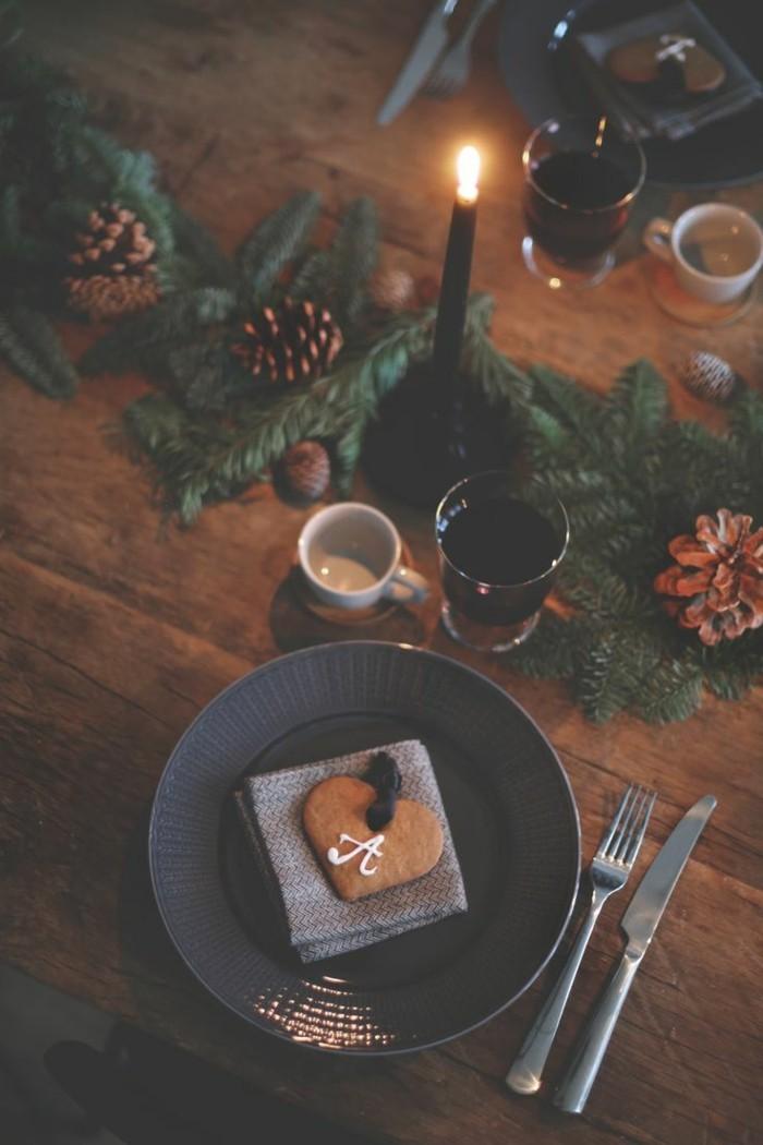 deko ideen weihnachten berghuette farben laterne tischdeko liebevoll
