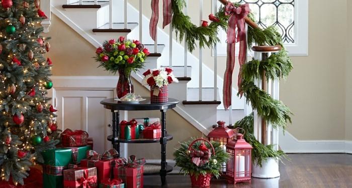 deko ideen weihnachten berghuette farben laterne tischdeko raumnutzung