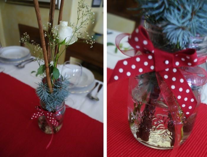 deko ideen weihnachten berghuette farben laterne tischdeko zweig