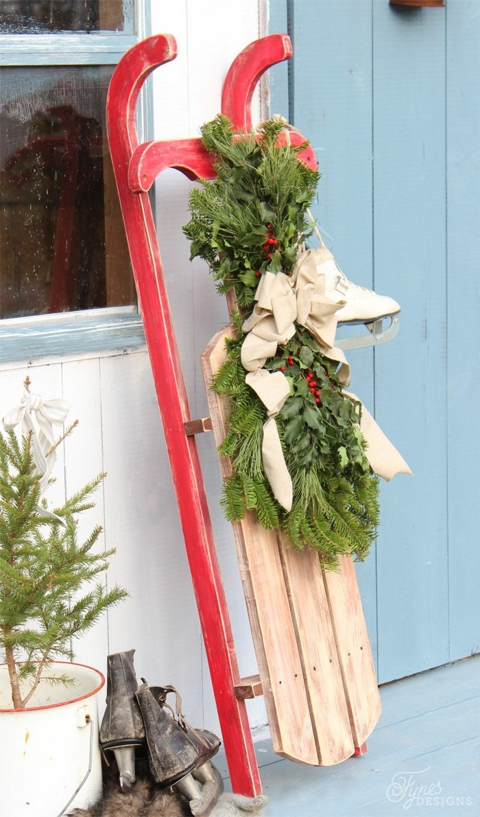 deko ideen weihnachten berghuette farben weihnachtsbaum symbol