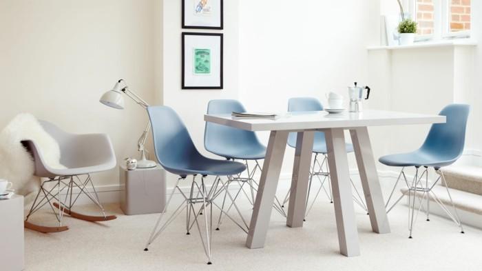 designer stuehle eames schalenstuehle designklassiker esszimmer esstisch schaukelstuhl