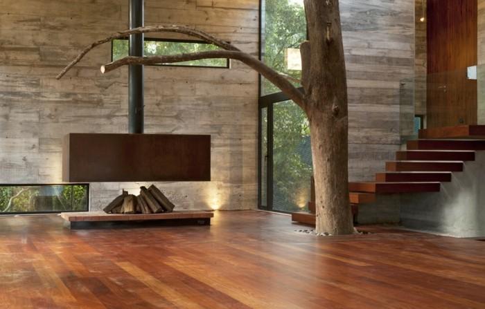 ferienhaus bauen beton einrichtung bauideen betonbau waldhaus ferienwohnung