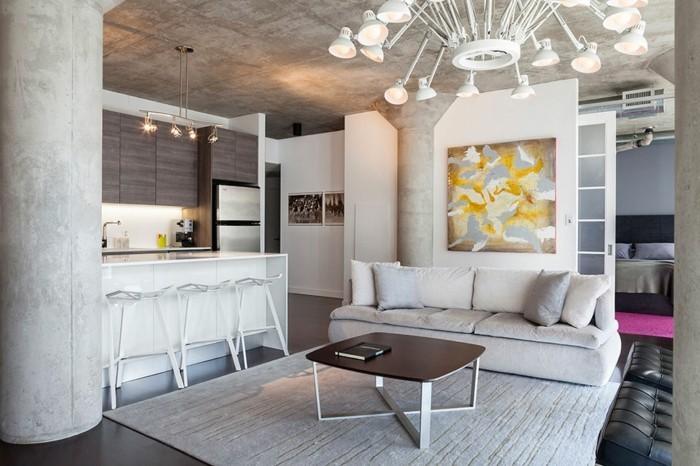 ferienhaus bauen beton gestaltung betonbau wohnzimmer