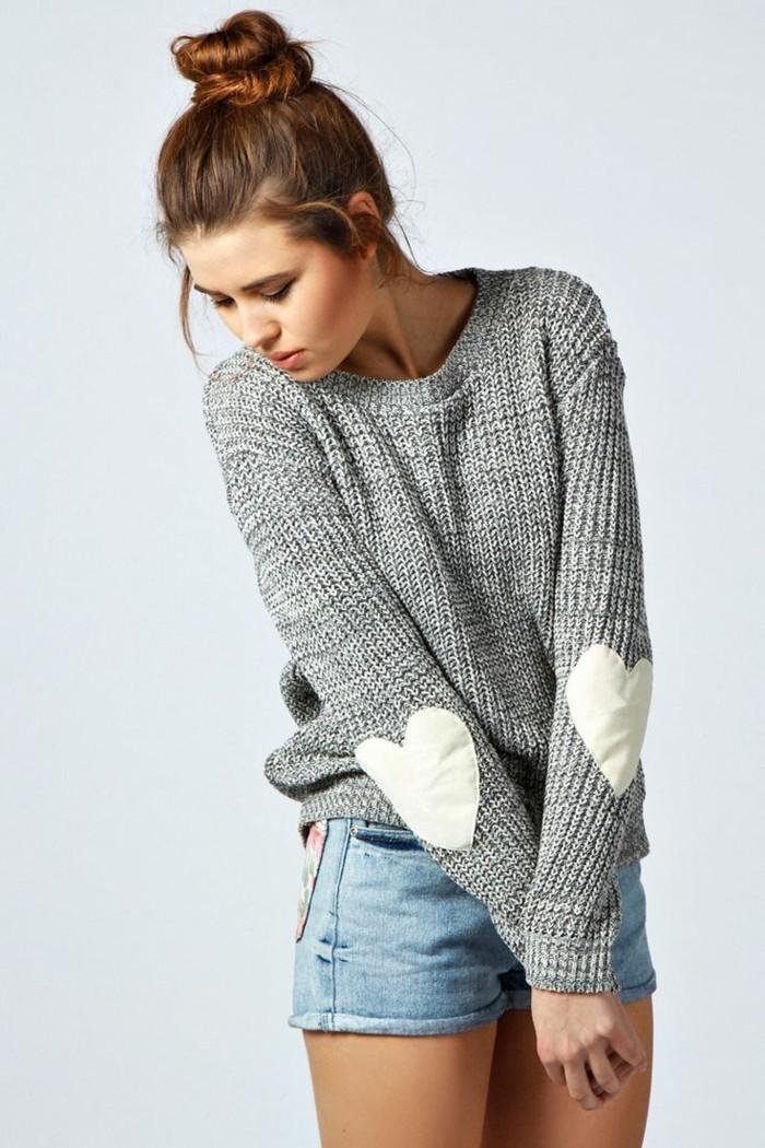 grauer pullover damenmode wintertrends layer mode strickpulli