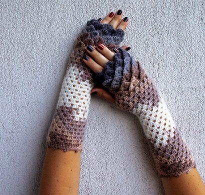 Einfache Fingerlose Handschuhe Häkeln | Skovlyset