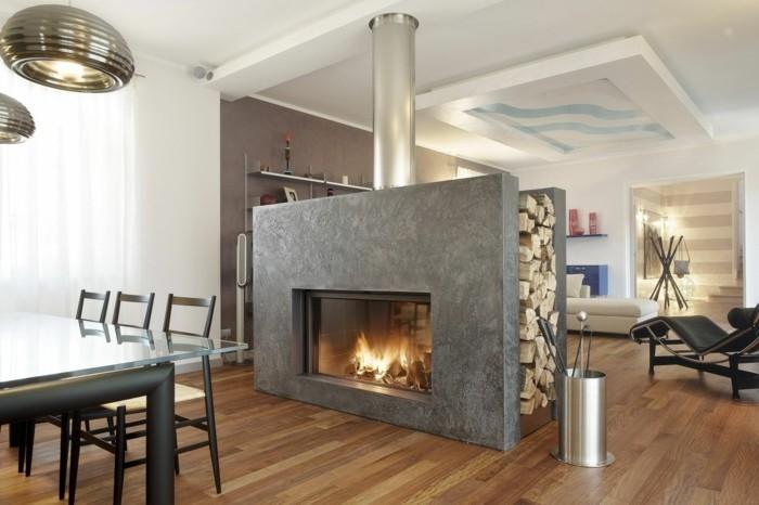 kamine brennholz wohnzimmer esszimmer