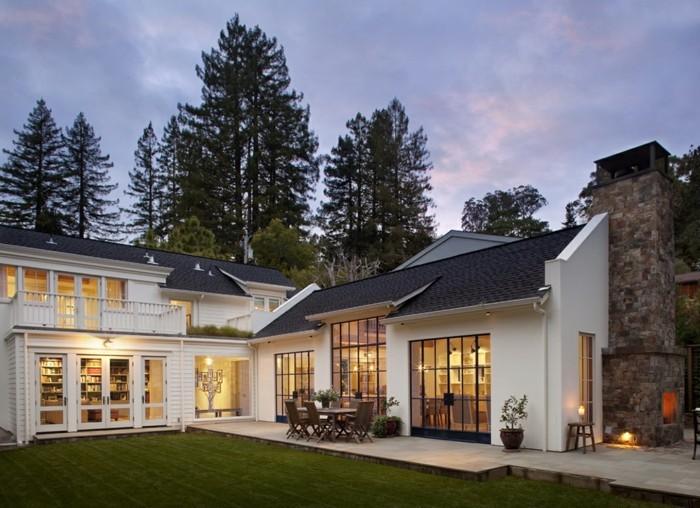 kamine outdoor einfamilienhaus modernes design