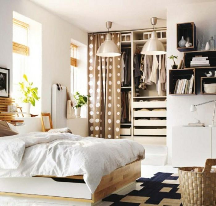Ausgezeichnet Schlafzimmer Ohne Kleiderschrank Kleine: Kleines Schlafzimmer Gestalten Wie Ein Designer