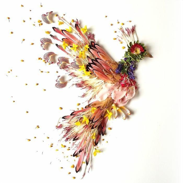 kunstobjekte bridget collins blumen phoenix