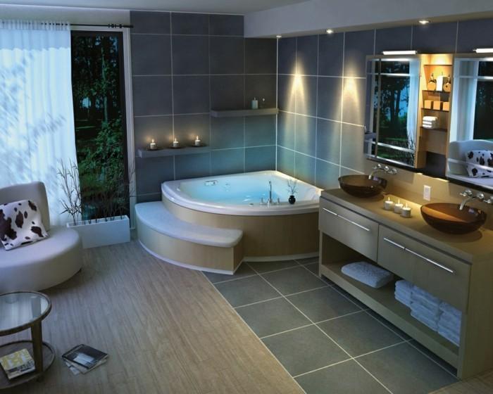 moderne badmoebel baddesign bereiche absondern