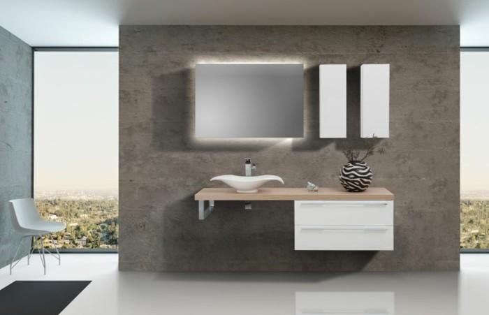 moderne badmoebel waschtisch badunterschrank led beleuchtung