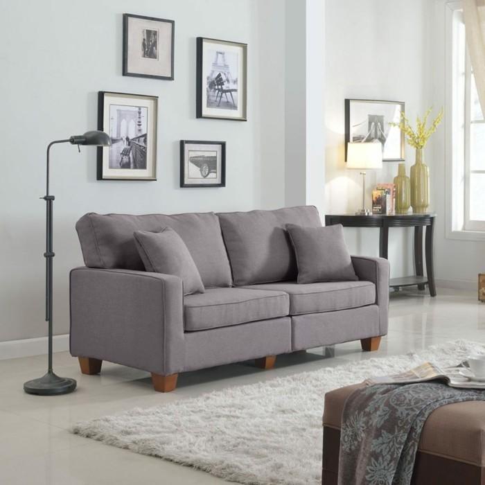 moderne sofas graues sofa sofastoff weisser teppich