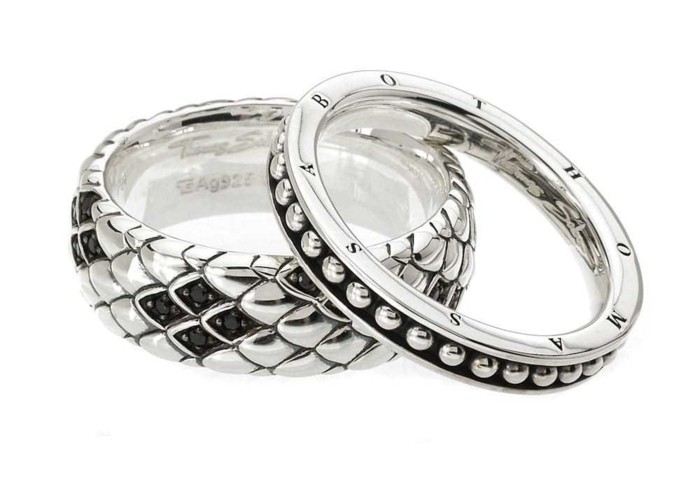 partnerringe thomas sabo silber ring set