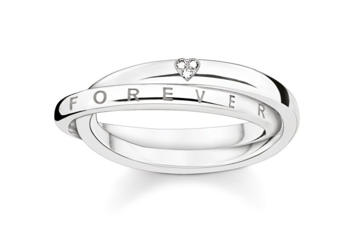 partnerringe thomas sabo silber weissgold forever together