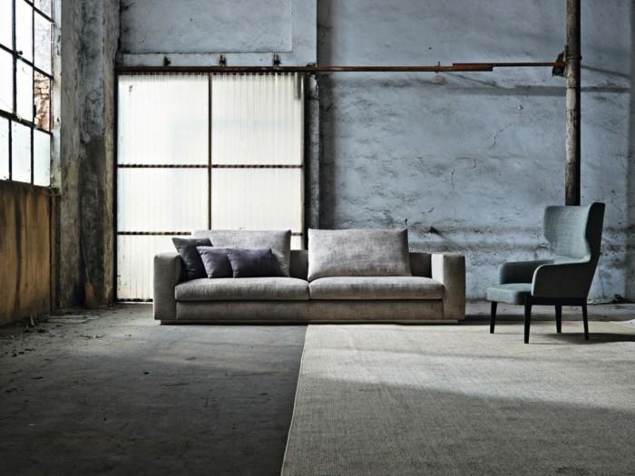 sofa stoff modernes design schick beige