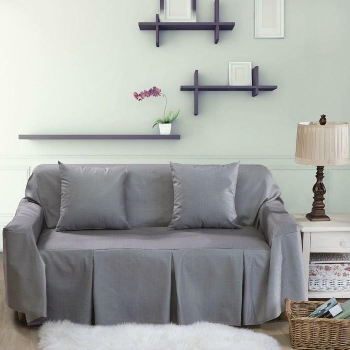 sofa stoff sofaschoner hellgrau wohnideen wohnzimmer