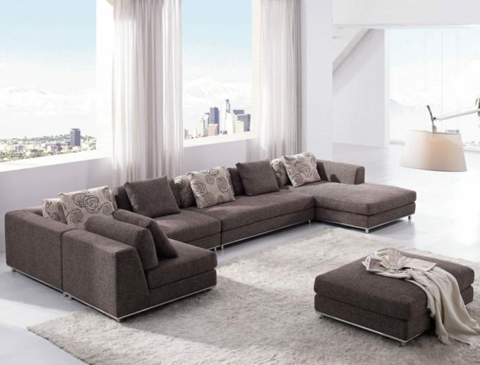 sofa stoff wohnideen wohnzimmer beiger teppich