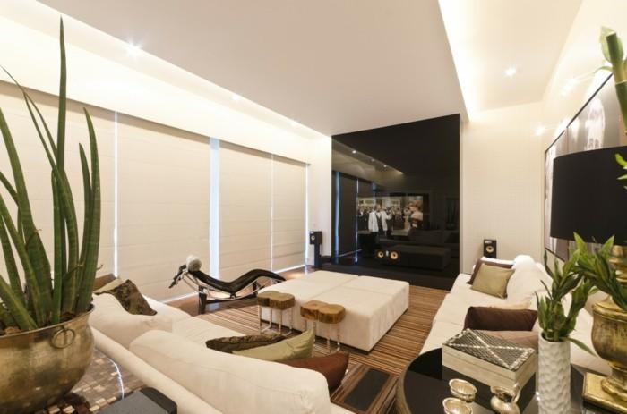 sofa stoff wohnzimmer einrichten helle einrichtung pflanzen