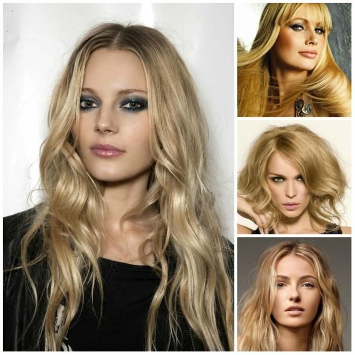 trendfrisuren damen 2017 balayage blonde haare