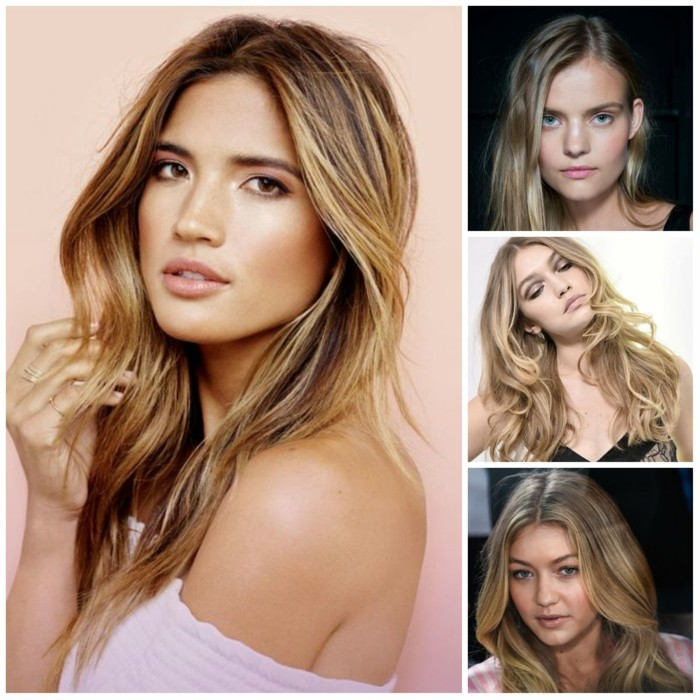trendfrisuren damen 2017 balayage strobin langes haar locken