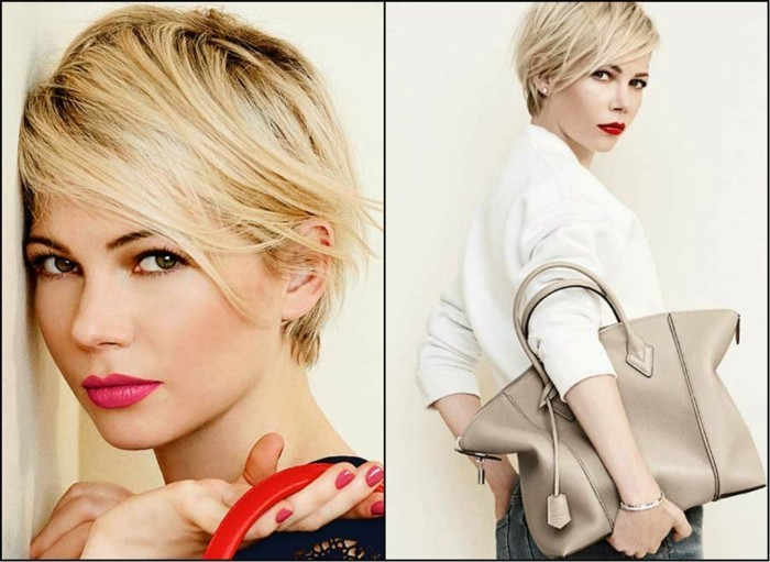 trendfrisuren damen 2017 blondes haar pixie