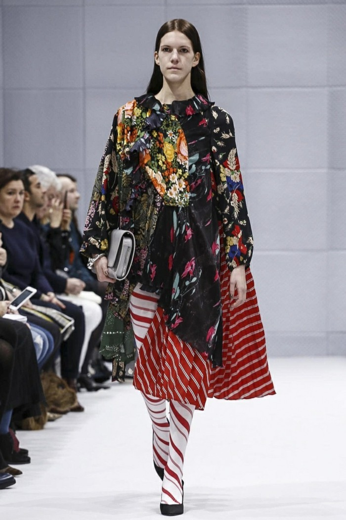 trendige mode patchwork kleider Balenciaga