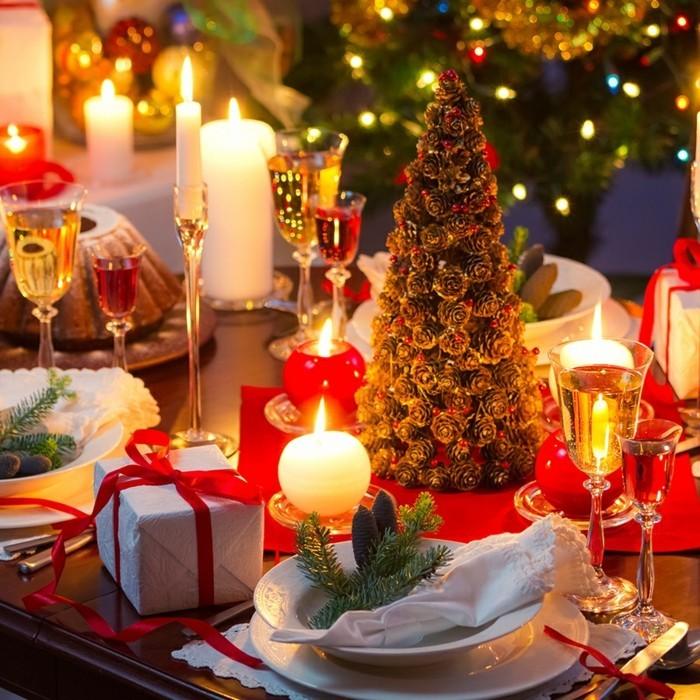 weihnachtliche tischdeko klassisch deko ideen