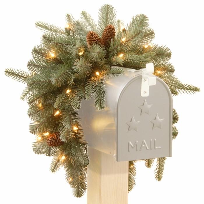 weihnachtsdeko maenner hipster suess weihnachtsbaum briefkasten