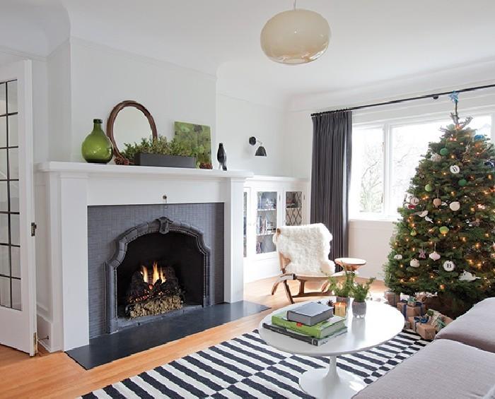 stilvolles weihnachtsdekoration nach skandinavischer art. Black Bedroom Furniture Sets. Home Design Ideas