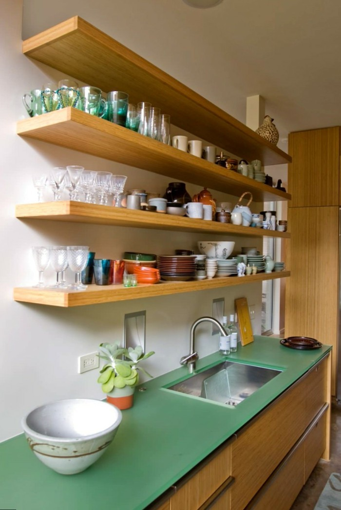 Küchen Regale Holz  Haus Design Ideen
