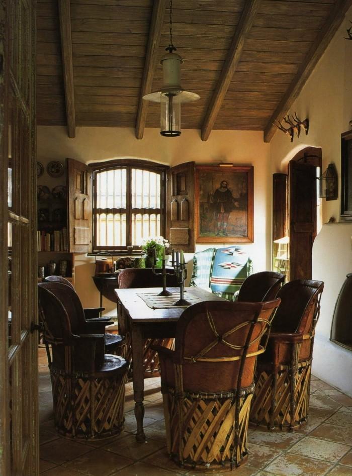 wohnungseinrichtung im spanischen kolonialstil so. Black Bedroom Furniture Sets. Home Design Ideas