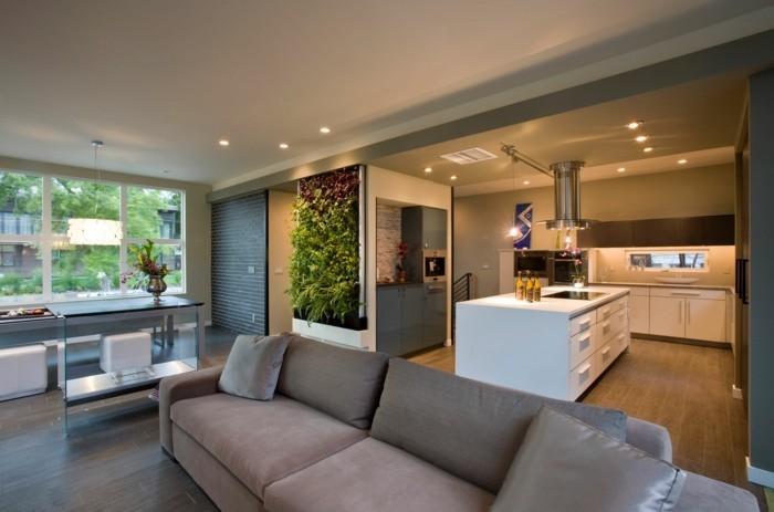 wohnungseinrichtung ideen kueche essraum offener wohnplan wohnzimmer