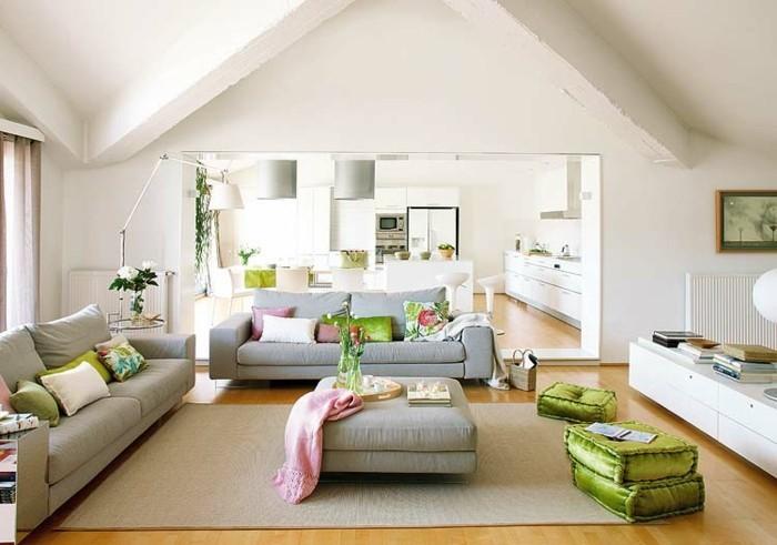 wohnungseinrichtung ideen kueche wohnzimmer essraum offener wohnplan