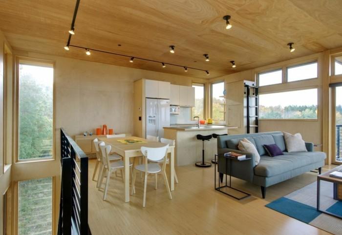 wohnungseinrichtung ideen kueche wohnzimmer esszimmer offener wohnplan