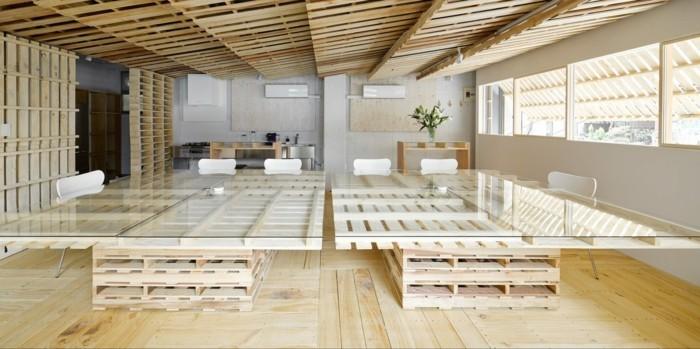 bueromoebel europaletten besprechungstisch selber bauen office moebel aus paletten