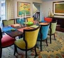 Bunte Esszimmerstühle bunte möbel 30 innendesign ideen mit viel farbe