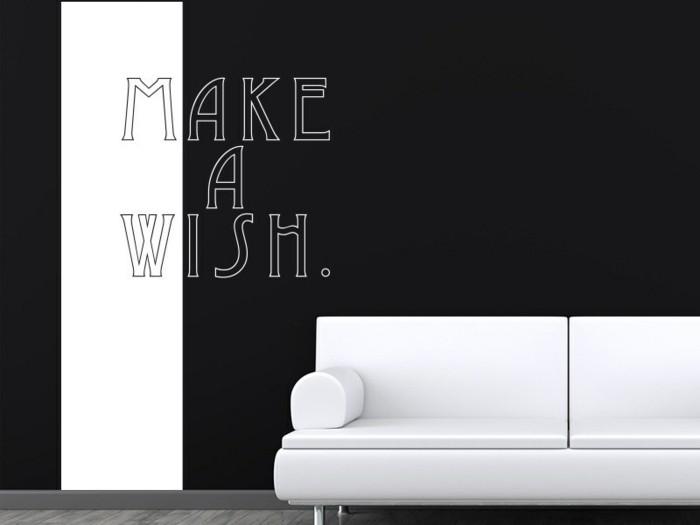 coole wandtattoos banner wohnzimmer weiß schwarz