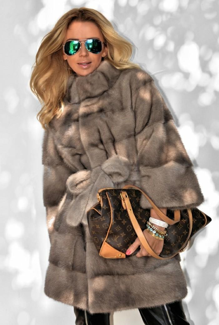damen pelzmantel mode winter