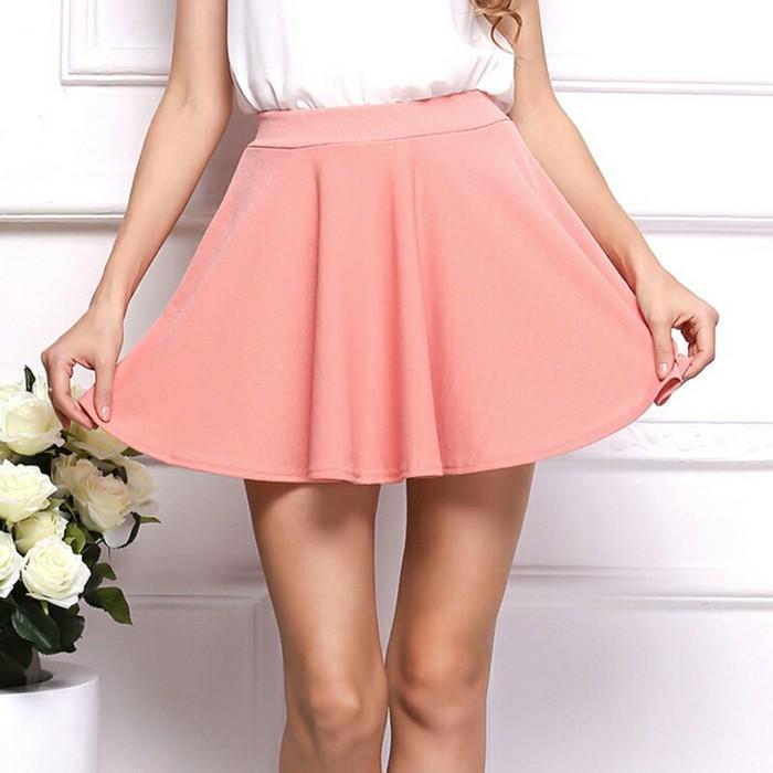 damen roecke kurz sommerlich rosa