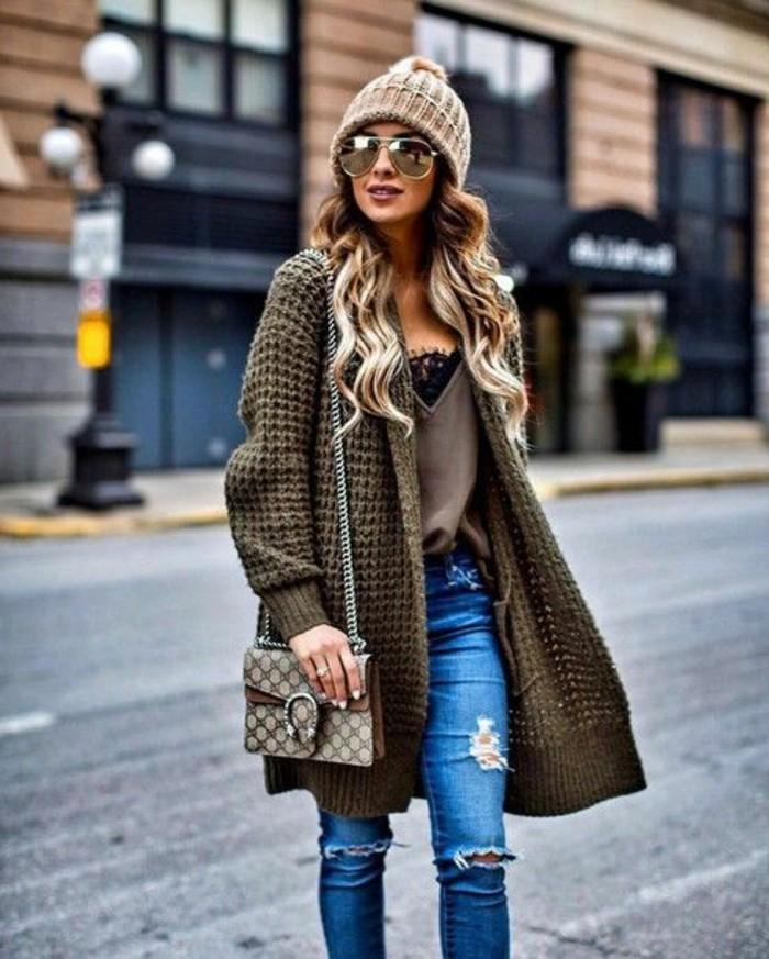 damenweste lang trendig jeans