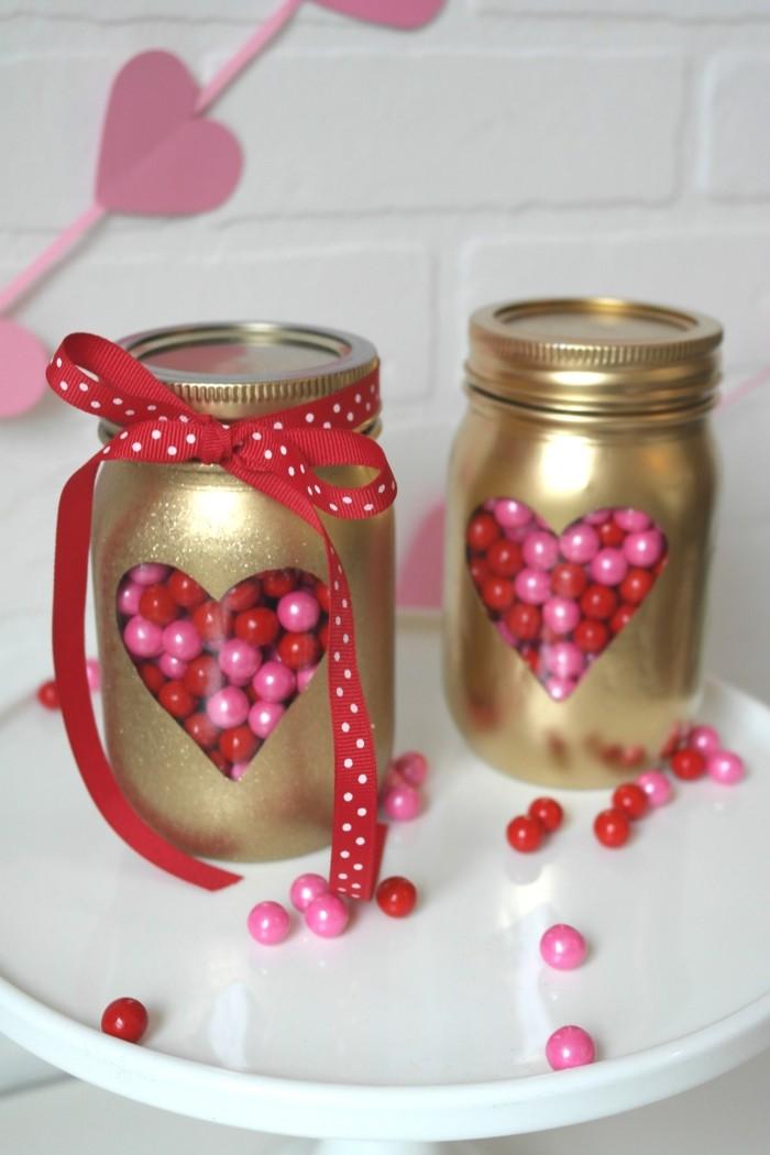 diy valentinstag einmachgläser basteln kreative ideen
