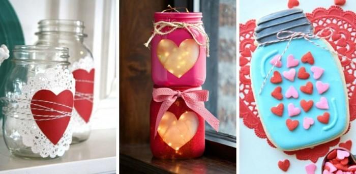 diy valentinstag einmachgläser herzen kerzen