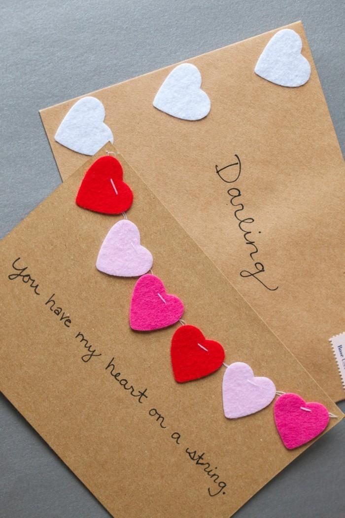 diy valentinstag karten basteln ideen botschaften