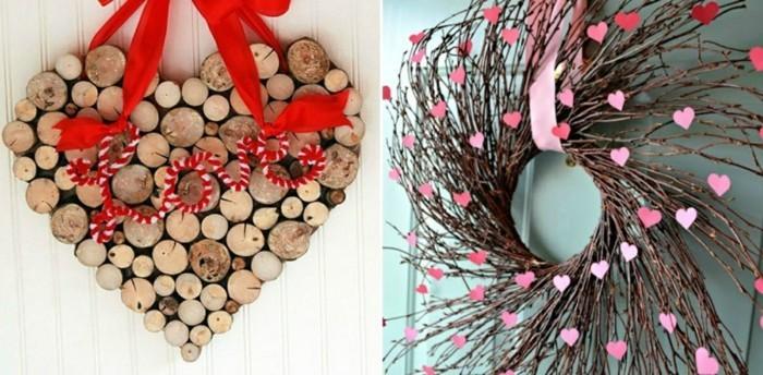 diy valentinstag türkranz basteln