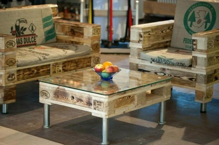 europaletten ideen moebel aus paletten wohnzimmereinrichtung sessel sofa couchtisch