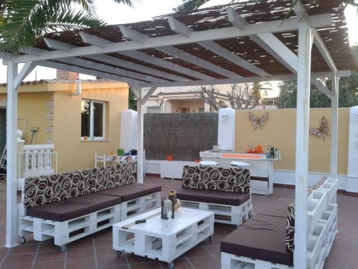 gartenmöbel terrassenmöbel selber bauen europaletten ideen