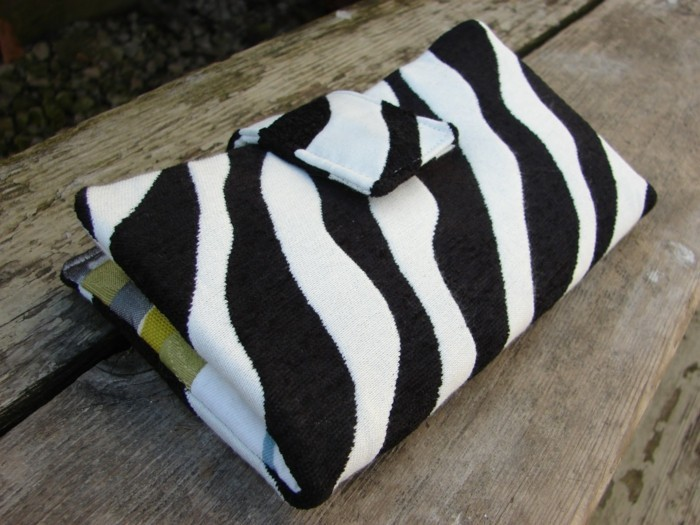 geldbeutel nähen zebra muster diy ideen