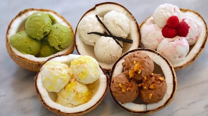 gesund essen superfoods veganes eis rezepte kokosnuss