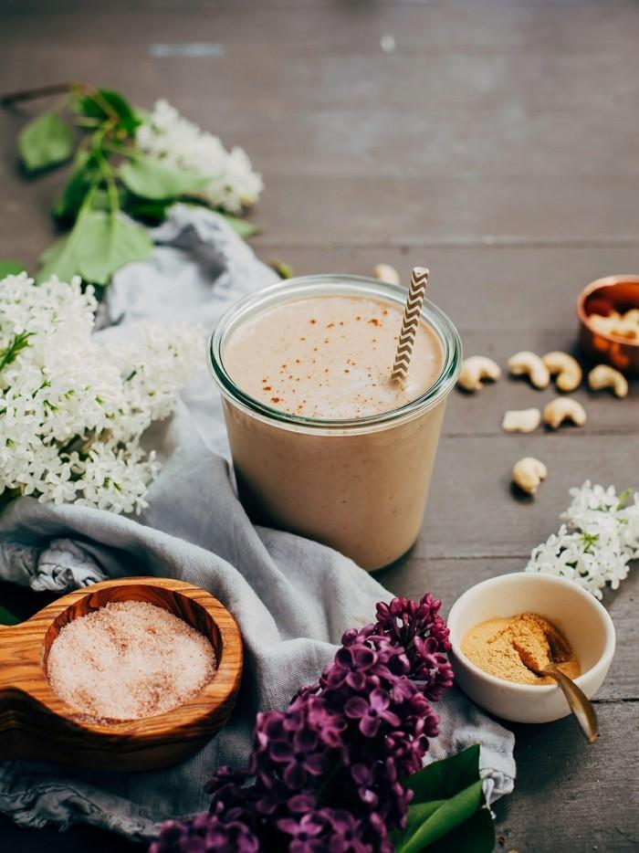 gesund leben maca karamel smoothie superfood