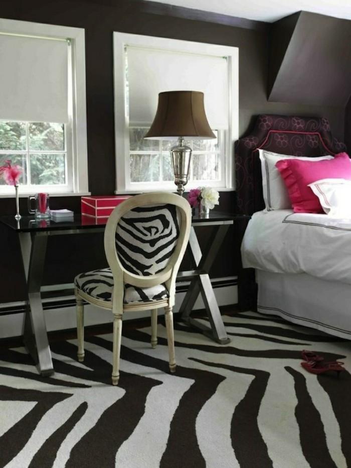 hochwertige inneneinrichtung schlafzimmer einrichten ideen zebra muster